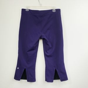 Lululemon Athletica Gather & crow purple crops
